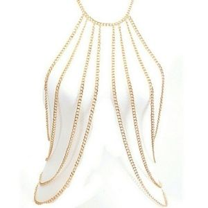 Gold Body Chain Necklace NWT